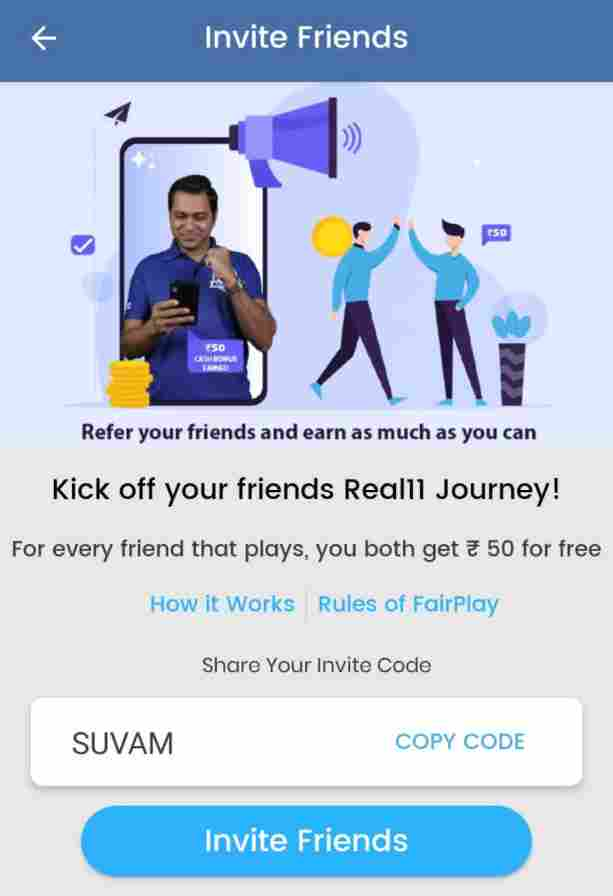 real11 fantasy cricket app