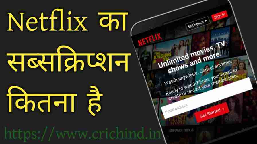 Netflix ka bharat mei Subscription Plans