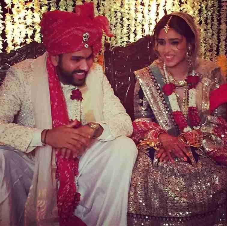 ritika sajdeh and rohit sharma marriage photo
