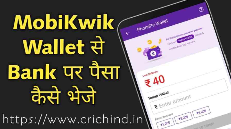 MobiKwik Wallet To Bank Transfer Kaise Kare